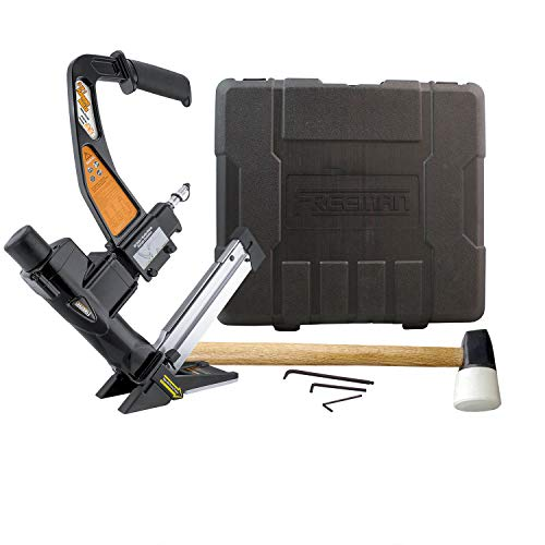 Freeman PFL618BR Pneumatic 3-in-1 15.5-Gauge and 16-Gauge 2' Flooring Nailer and Stapler with Case...