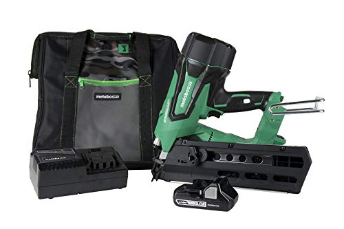 Metabo HPT Cordless Framing Nailer Kit, 18V, Brushless Motor, 2' Up To 3-1/2' Framing Nails, Compact...