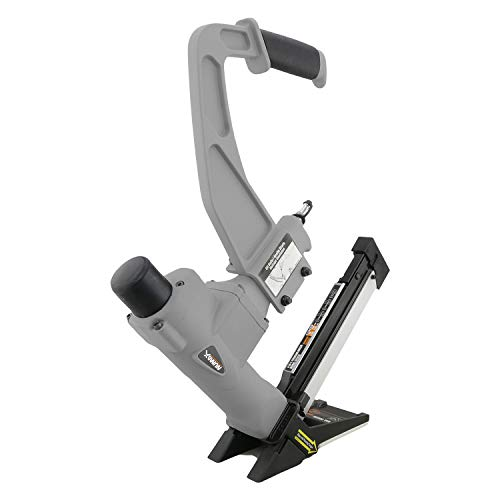 NuMax SFL618 Pneumatic 3-in-1 15.5-Gauge and 16-Gauge 2' Flooring Nailer and Stapler with White...