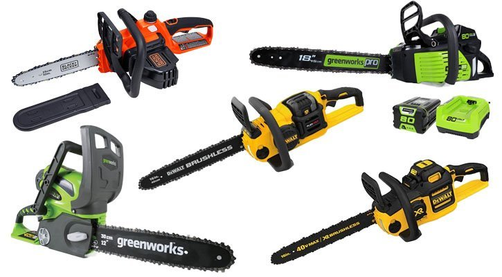 The best cordless electric chainsaws. Top battery powered chainsaw reviews.