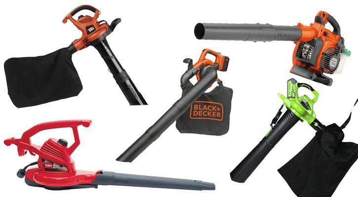 A collection of the best leaf vacuum mulchers and best blower vacs.
