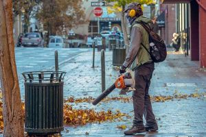 Handheld gas leaf blower
