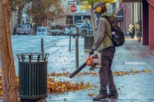 Handheld gas leaf blower